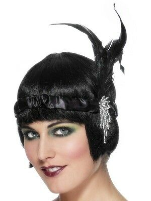 Roaring 20's GATSBY Satin FLAPPER HEADBAND Costume Party Hair Accessory