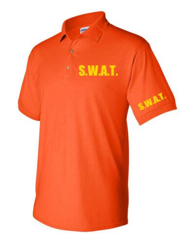 POLICE TEAM MEN/'S UNIFORM POLO T-Shirt SWAT MEN/'S POLO T-Shirts S.W.A.T