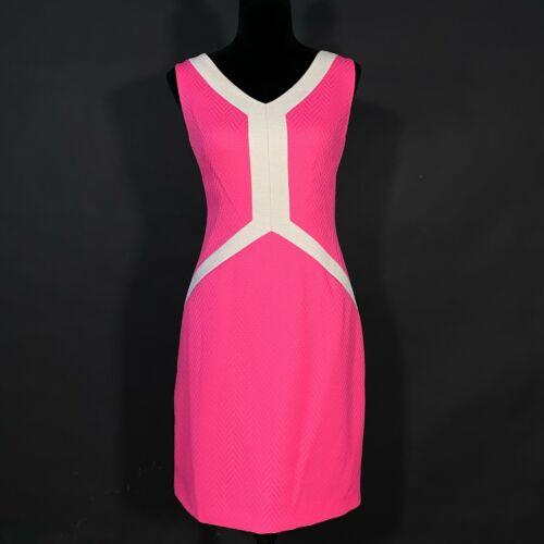 Antonio Melani 10 Dress Bold Pink Neon Beige Color