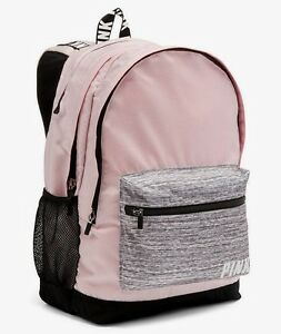 NEW Victoria's Secret PINK CAMPUS BACKPACK BAG Large Grey ...