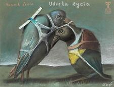 The anguish of life - Hanoch Levin  - Stasys Eidrigevicius - Polish Poster