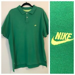 558af85d4 Vintage Men s Nike polo shirt Golf Tennis Casual Short Sleeve Green ...