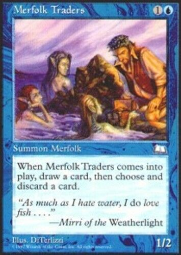4x Merfolk Traders MTG Weatherlight NM Magic Regular