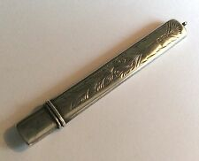Antique Victorian hallmarked stg silver pendant needle or pencil case