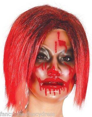 Nachdenklich Damen Durchsichtig Blutig Horror Zombie Halloween Maske Maskenkostüm üBerlegene Leistung