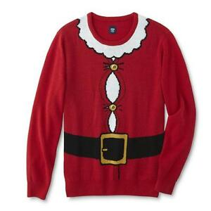 Route-66-Men-Ugly-Christmas-Crew-Neck-Sweater-Red-Santa-Claus-Suit-2XL-XXL