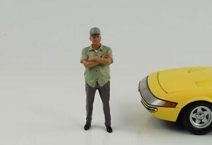 Figurine-Week-End-car-Show-Plus-Vieux-Homme-1-18-American-Diorama-II-N-Car