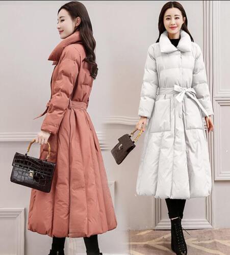 Coat Cotton Linje 4color Kvinder Over Outwear Lapel Thicken En Lange Knæ Down Parka BpnwxPUq4T