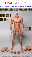 "ZC Toys 1/6 Scale 12"" Narrow Shoulder Emulated Figure Asian Male Muscular Body"