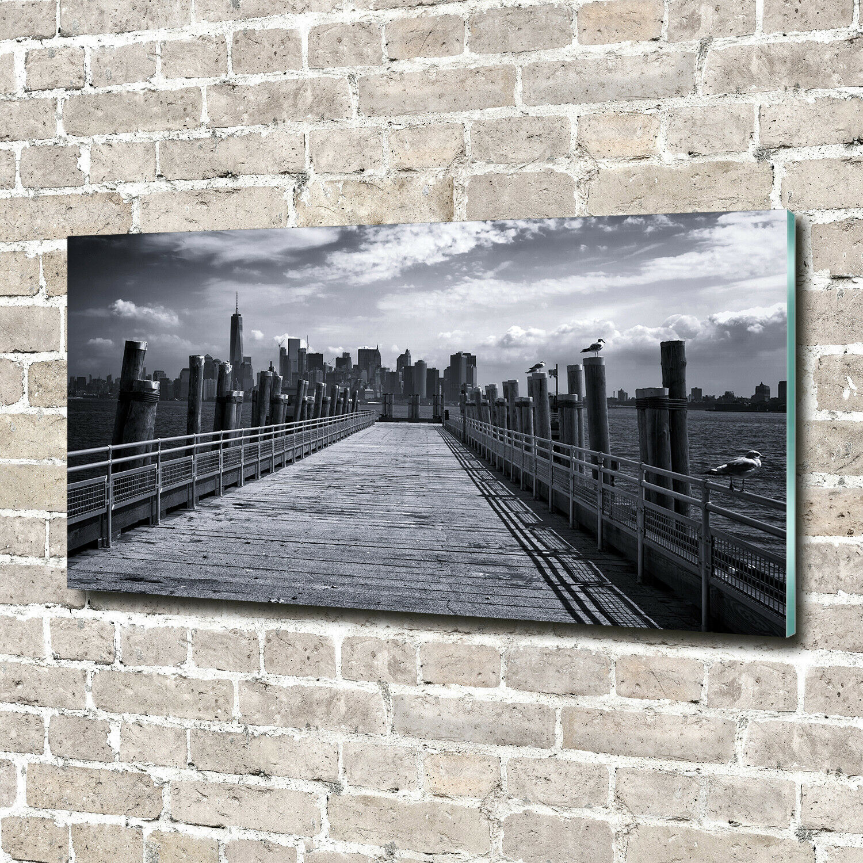 Acrylglas-Bild Wandbilder Druck 140x70 Deko Sehenswürdigkeiten New York Panorama