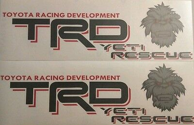 Toyota TRD Off Road Yeti Rescue/Big foot  EditionTundra/Tacoma 4x4 Truck Decal