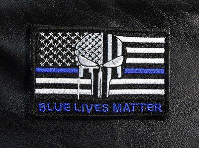 PVC USA FLAG PATCH BLUE LIVES MATTER LINE Vest SWAT POLICE THIN BLACK Law 1 TBL