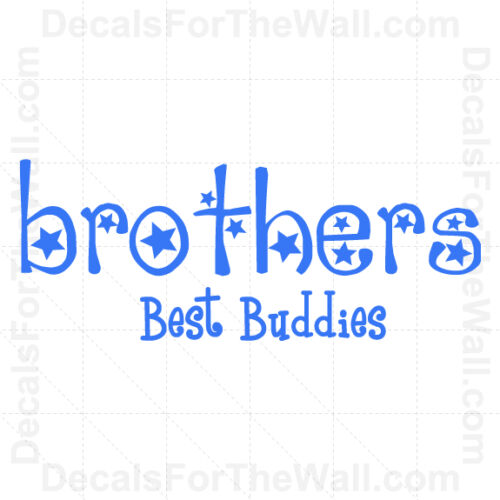 Brothers Best Buddies Boy Wall Decal Vinyl Art Sticker Quote Decor Lettering K84