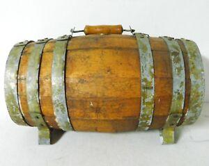 Original-Antique-Wood-Civil-War-Naval-Ambulance-Water-Whiskey-Casket-Keg-Barrel
