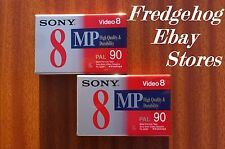 PK of 2 x SONY P5-90MP METAL - 8MM / VIDEO 8 / Hi 8  CAMCORDER TAPES / CASSETTES