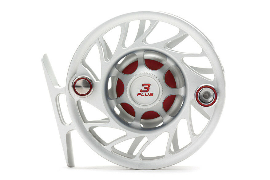 Hatch Gen 2 Finatic Fly 3 Reel - Size 3 Fly Plus - Clear/rosso - Mid Arbor - Nuovo d03418