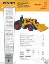 Equipment Brochure Case 480 Construction King Loader C1968 E2134
