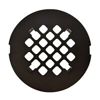 Oil Rubbed Bronze Round Snap-in Shower Drain Grate 4 1/4 Replacement Cover
