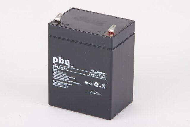 pbq 3.4-12 12V 3,4Ah Blei Gel Akku AGM kompatibel Panasonic LC-R123R4PG