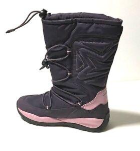 free shipping 4246a a1c60 Details zu GEOX Winterstiefel Kinder Mädchen violett lila Gr. 35 (34)  NEUWARE