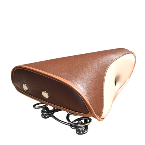 Bike Saddles Retro Comfort Brown Bicycle Bike Cycling Seat Rivet Spring Cushions