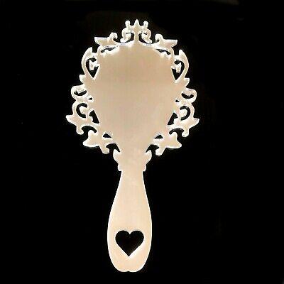 Personalised or Plain Engraved Lips Shaped Hand Held Vanity Mirrors