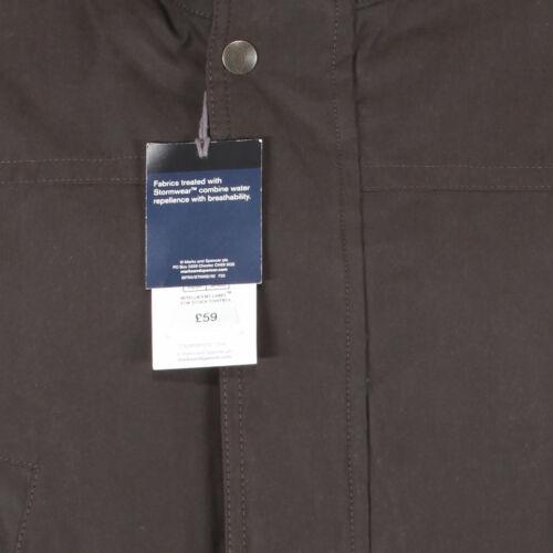 Da Uomo Marks /& Spencer Soft Touch Parka Nuovo M/&S Caldo Cappotto Invernale in Pile Marrone Linea