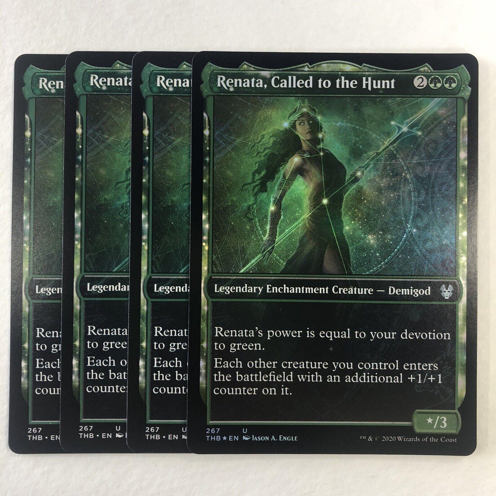 RENATA SHOWCASE X4 Theros Beyond Death Variants Magic MTG CALLED TO THE HUNT