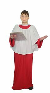 Details about Childs Red Choir Boy Costume Religious Gospel Singer Fancy  Dress