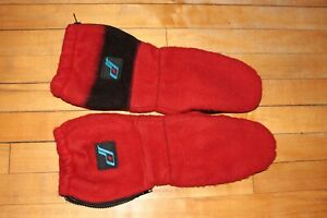 Vintage-New-Old-Stock-Polaris-Mitts-Gloves-Red-Winter-Snowmobile-S28