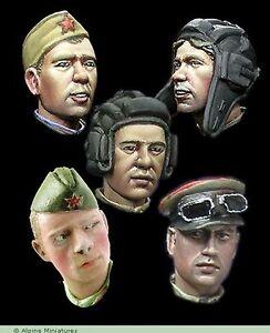 Alpine-Miniatures-1-35-H014-WW2-Russian-Heads-Set-2