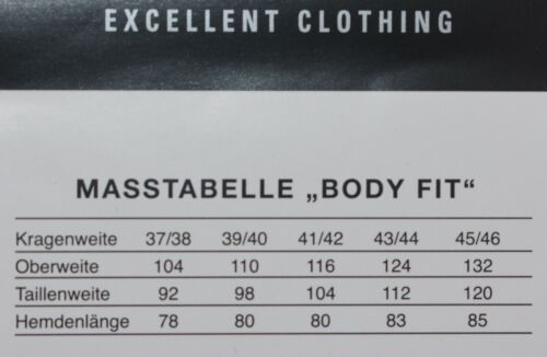 Tailor /& Son Herren Hemd Body Fit Businesshemd Blau S 37 38 M 39 40  L 41 42
