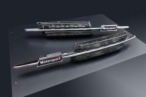 Fuer-BMW-Seitenblinker-Schwarz-LED-M-Blinker-E81-E82-E87-E88-E60-E61-E90-E91-E92