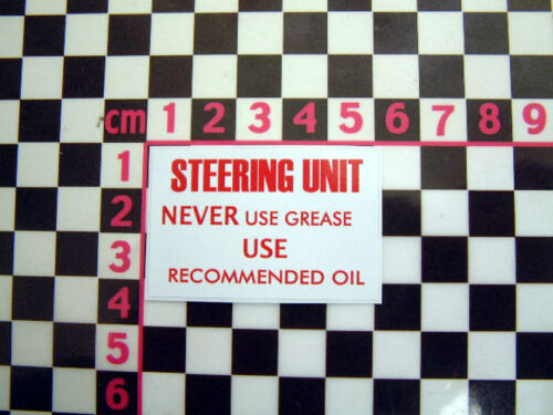 Rootes Steering Rack Decal for a Hillman Imp Singer Chamois Sunbeam Stiletto Van