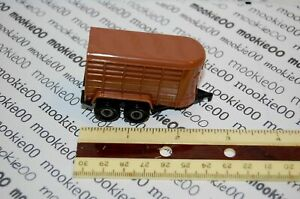 ERTL-1-64-Brown-HORSE-TRAILER-Plastic-with-Diecast-Chassis-NEW-BULK-ITEM