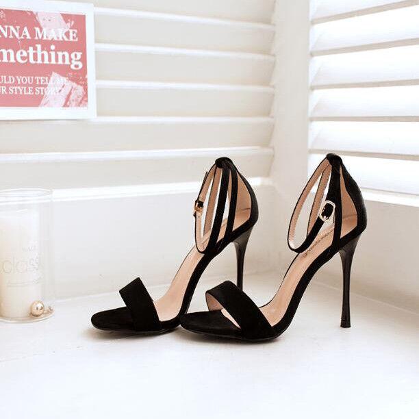 Sandalo Sandalo Sandalo stiletto eleganti 11 cm nero simil pelle simil pelle pelle   022f81