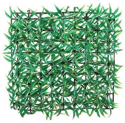 FD822 Grass Plastic Artificial Fish Tank Ornament Plant Lawn Aquarium Green1pc#