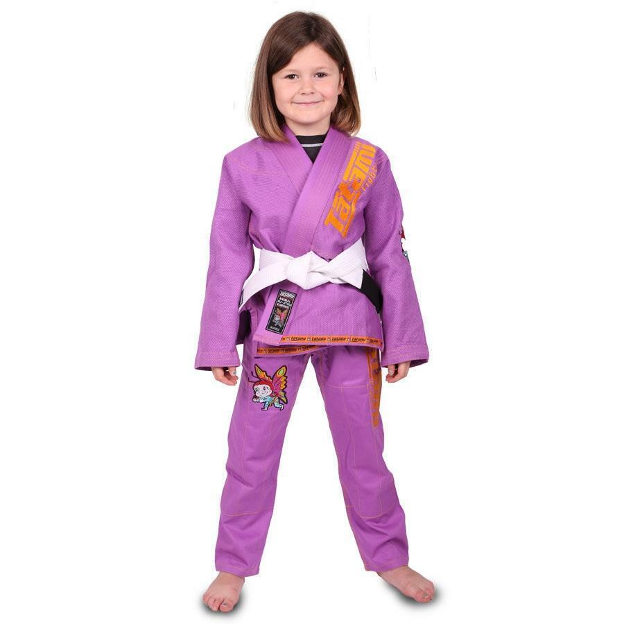 Tatami Nuovo Meerkatsu Bambini Animale Bjj Gi Viola Uniforme Kimono