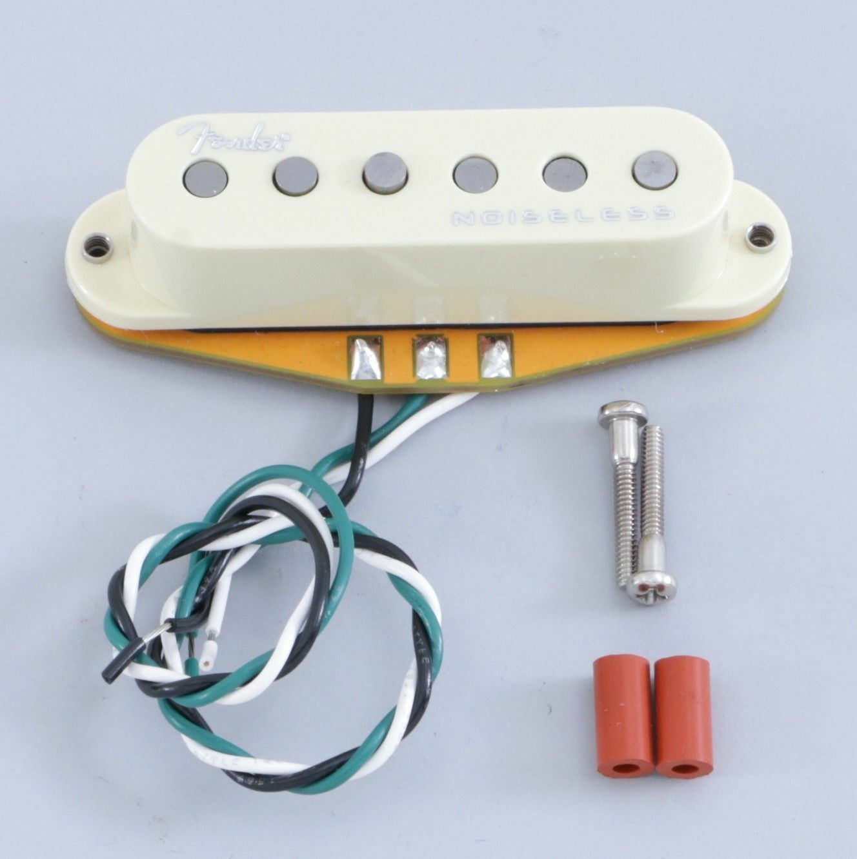 New Fender GEN 4 Noiseless Stratocaster Strat Guitar Neck Pickup AGED Weiß