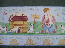 Wallpaper Border Little Boys Made Puppy Dog Tails 2 in 1 sections Hard to Find