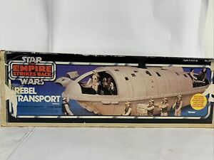 Blue-BOX-ONLY-Vintage-Star-Wars-REBEL-TRANSPORT-EMPIRE-STRIKES-BACK-Kenner