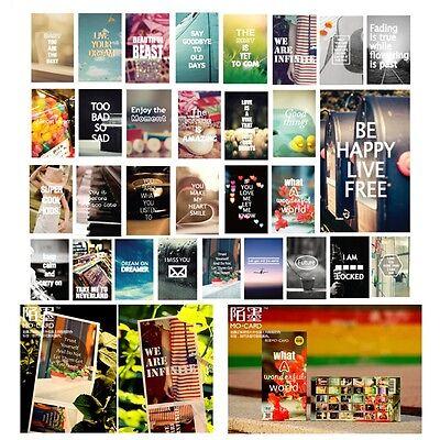 Lot Of 30 Motivational Slogan Love Wish Postcards Wish Cards Children Kid Gifts