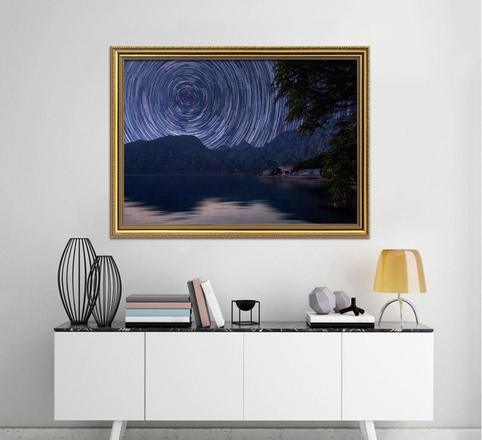 3D Ducha 1 Póster Enmarcado Paisaje Meteor Decoración del Hogar Pintura de Impresión Arte Wallpaper