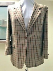 Austin Reed Ladies Wool Check Jacket Made For El Corte Ingles Size 14 Ebay