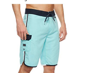 NEW BILLABONG swim board shorts 73 OG Original scallop solid bluee 30 32 34 36 38