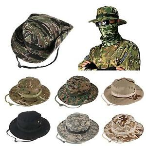 b0d5aaba Bucket Hat Wide Brim Military Hats Sun Hat Boonie Hunting Fishing ...
