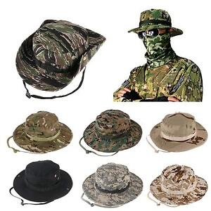 5d87fa247de Bucket Hat Wide Brim Military Hats Sun Hat Boonie Hunting Fishing ...