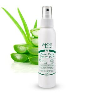 Bio Aloe Vera Spray 99% mit Allantoin und Panthenol - ALOE Line - vegan - 100ml