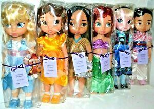 Disney-Store-Animator-Puppen-Ariel-Mulan-Jasmin-Belle
