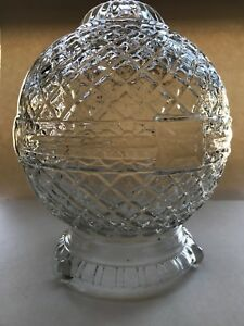Vintage-Antique-Glass-Art-Deco-Or-MCM-Glass-Lamp-Base-9-5-Tall-Very-Unique